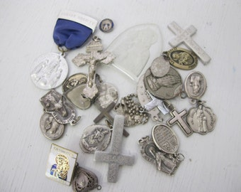 Religious Medals Holy Medals Catholic Medals Lot