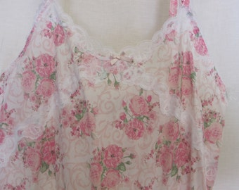 Laura Ashley Nightgown Floral Cotton Nightgown Old Fashioned Nightgown 1970 Nightgown