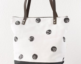 Grey dot Messenger bag