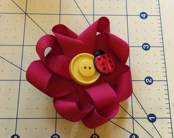 Lady bug hair clip