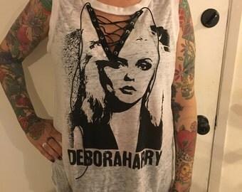 Debbie Harrie/Blondie Vintage Lace Up T-Shirt