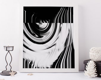 Black and white Abstract Art Printable Wall Art Geometric Wall Art Prints Download Art Modern Wall Art Poster Black and White Wall Art Decor