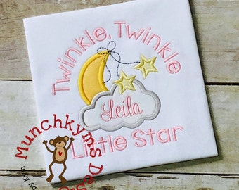 Twinkle Twinkle Little Star Applique Design