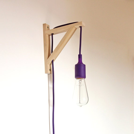 lampe anwenden quadrat aus holz peq kabel stecker stecker. Black Bedroom Furniture Sets. Home Design Ideas