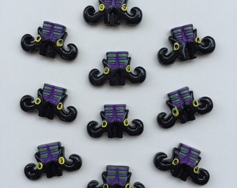 2/3/5 pc Halloween WItch Boot Resin Flat back Cabochon Hair Bow Center