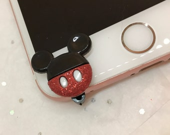 Mickey and Minnie Front-Mounted cell phone charm, dust plug charm, shower favor