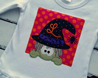 Halloween Witch Shirt, Halloween Shirt, Little Witch, Peeking Witch Shirt