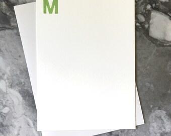 Letterpressed monogram stationary set