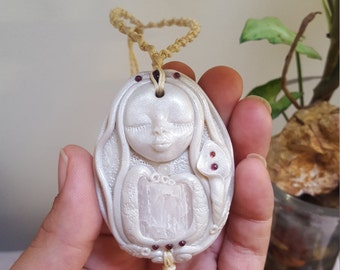 heart center goddess, goddess necklace