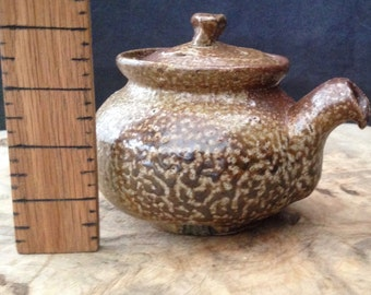 Wood and Salt Fired Stoneware Teapot