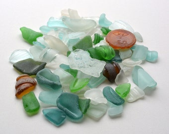 70 Sea Glass Bottle Rims. Genuine seaglass. Sea Glass Bottle Neck. Bottle Bottom Parts
