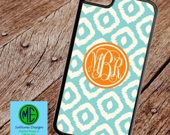 Ikat Custom Phone Case. Custom Monogram Phone Case/Cover. Monogram Phone Case. Monogam Gifts. iPhone, iPod, Samsung Galaxy, Samsung Note,