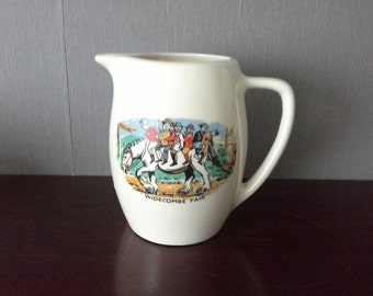 Vintage Widecombe Jan Stewer Fair Milk Jug
