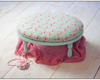 Newborn Baby Photography Prop Upholstered Bench