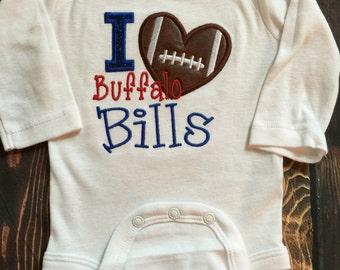 Buffalo Bills Baby Girl Football Shirt or Baby Bodysuit – Sizes Newborn to XL 14