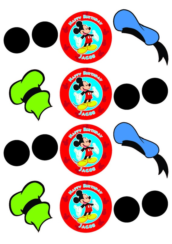 Mickey Mouse Cupcake Toppers, Mickey Mouse Birthday ...
