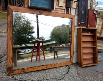 Large Reclaimed Wood Mirror