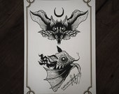LIMITED Bats Monsters - Tattoo print 50/50 signed