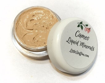 CAMEO Creamy Liquid Mineral Foundation Vegan Makeup Samples and Full Size