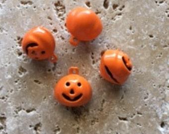 Pumpkin Charm Bells qty 10