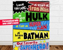 PRINT You Are My Favorite Superhero Personalized Superhero Sign Superhero Wall Sign Superhero Birthday Sign Superhero Birthday Poster