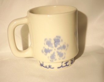 Let it Snow Snowflake coffee cup