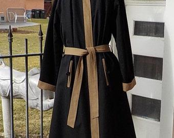 SALE Vintage Reversible Raincoat - Rain Shredder - Ken Meritt - Size 7 - 8