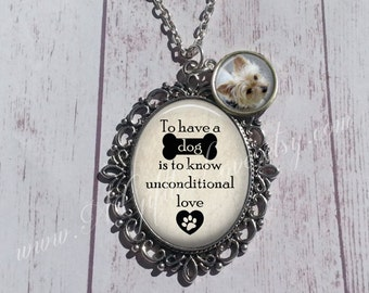 Pet Photo Pendant - Personalized Pendant with Photo - Gift for Mom