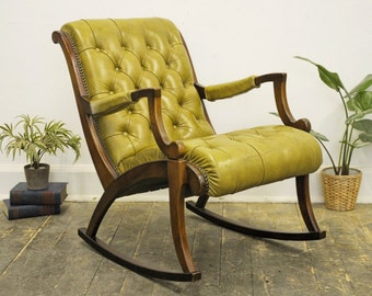 Vintage Chesterfield Rocking Chair - Collection Only