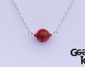 Lost your Marbles - Marble necklace Tutti Frutti, lampwork necklace, gift for her