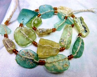 Ancient Roman Glass With Old Patina 1500-2000 Years Old RG61