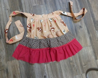 """Hen House apron              [fabric""""s will vary]..adult and child sizes..."""