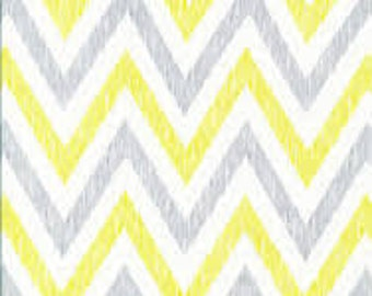 Chevron in Gold and Gray (Organic Quilting Cotton Fabric) from the Simpatico collection for Cloud 9 Fabrics