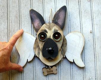 Custom Angel Dog Ornament, Memorial of your dog