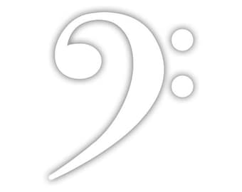 Bass Clef decal