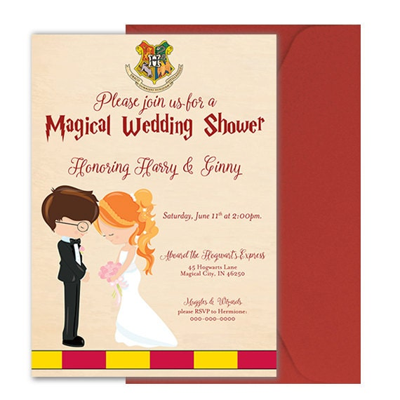 harry potter wedding invitations harry potter wedding shower invitation harry potter bridal 4735