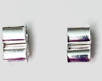 Sterling Silver Studs, Handcrafted Silver Metalwork Earrings, Stocking Stuffer