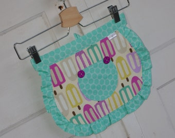DISCOUNT 20% OFF SALE Coupon Code SUMMER20 Ready to Ship Mint Popsirrific Children's Half Apron Size 1 - 3 years