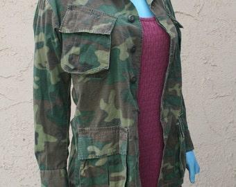 Vintage Military Cameo Jacket
