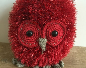 Hand made knitted owl