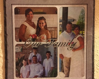 8x10 customized picture on slate