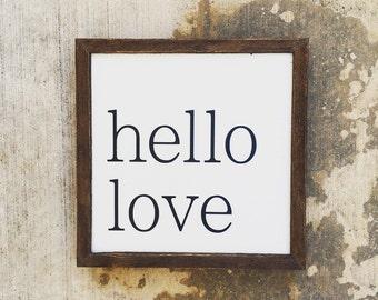 Hello Love sign
