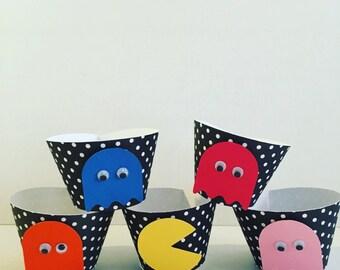 Pacman cupcake sleeves/ holders
