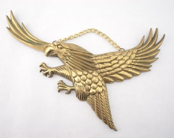 Vintage Brass Eagle Wall Hanging Decoration