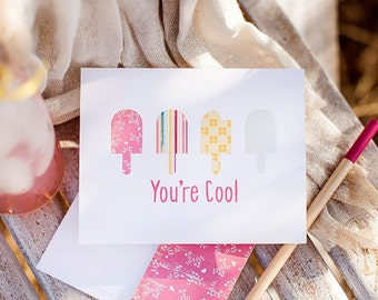 You're Cool Ice Cream Card