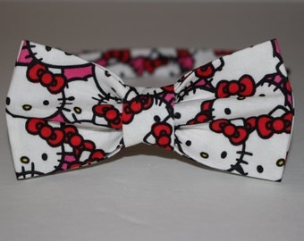Pre-Tied Black and White Hello Kitty Bow Tie / Bowtie - FREE SHIPPING!