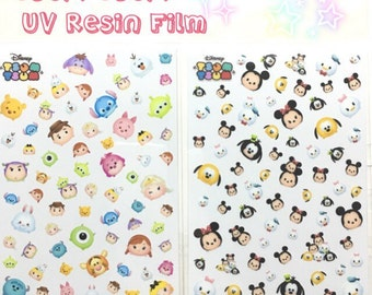 Japan Disney TSUM TSUN UV Resin Film transparent sheet card decoration, decor, scrapbook supplier