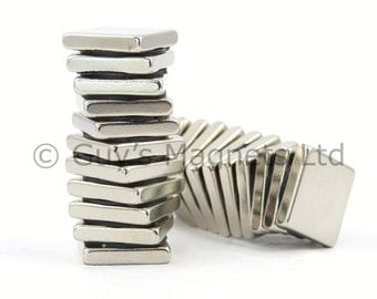 15mm x 15mm x 3mm very strong neodymium block magnets ideal for fridge magnets, craft projects GuysMagnets