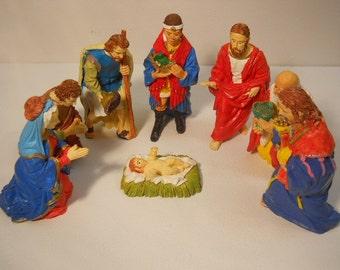 Christmas Nativity Scene 8 Pc Set