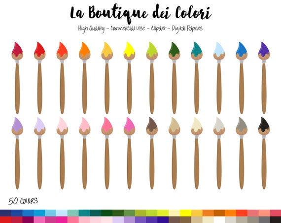 50 paint brush clipart painting digital illustrations png for Paint planner